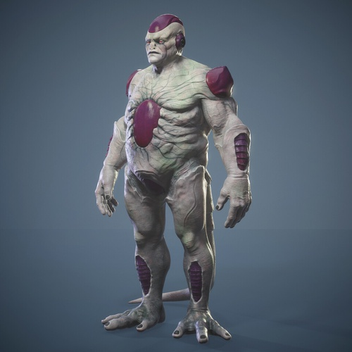 3d anime character freeza