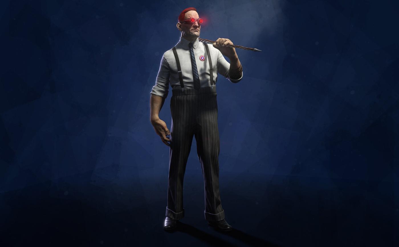 marvel inspired 3d character