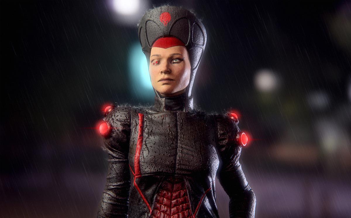 futuristic priestess 3d model