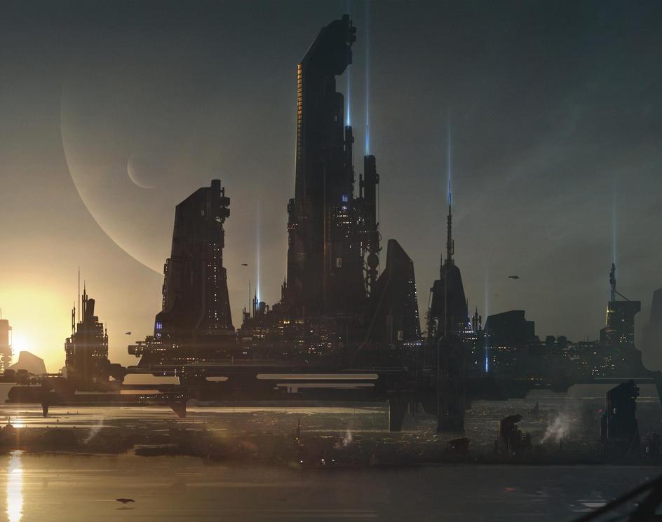Sci-fi Cityby josejulian100