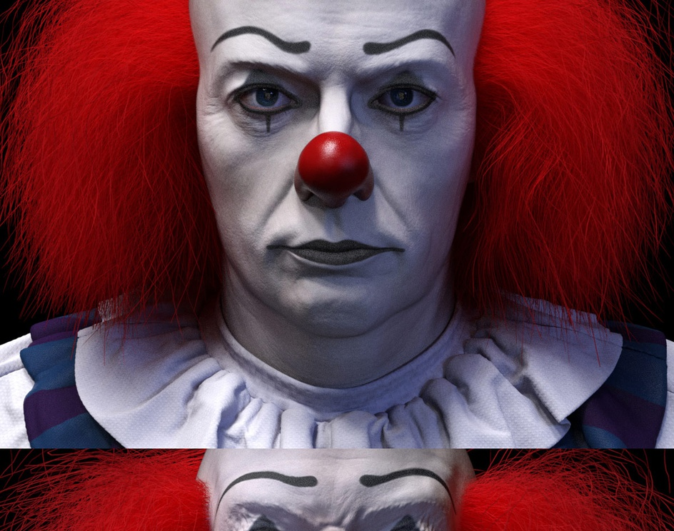 Tim Curry as Pennywiseby Joseph Pegurier