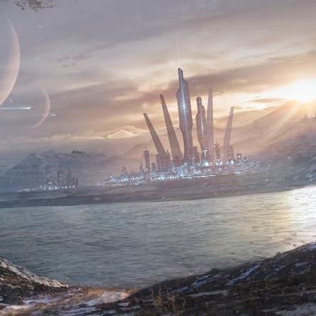 Juan Diaz environment concept scifi planet matte painting