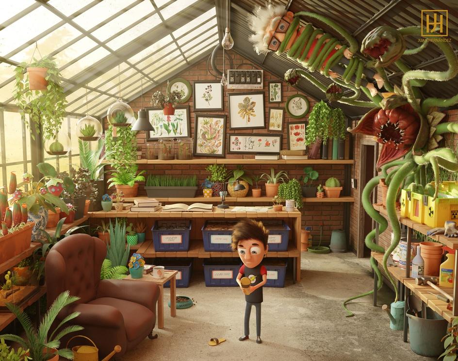 Grandpa's Greenhouseby Juan Hernández