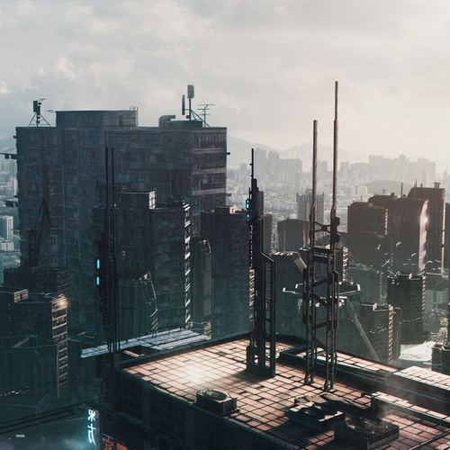 futuristic urban city landscape