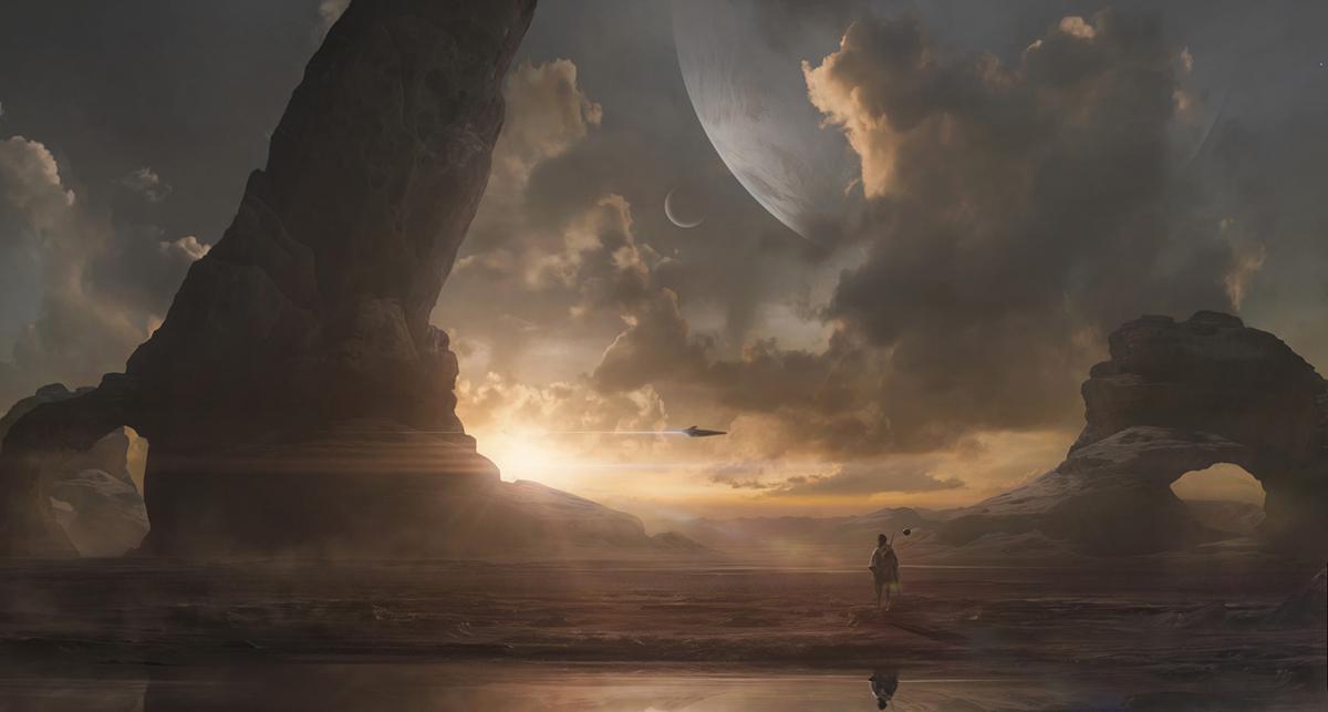 desert planetary concept art sci-fi