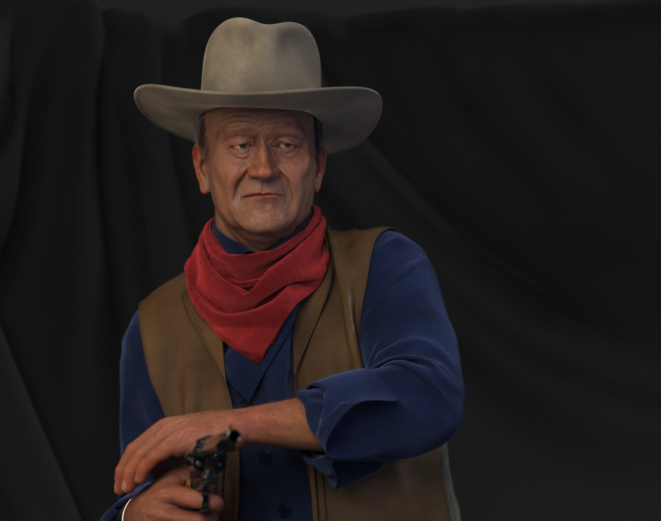 John Wayne aka THE DUKE ---CGI---by Stathis Nikou