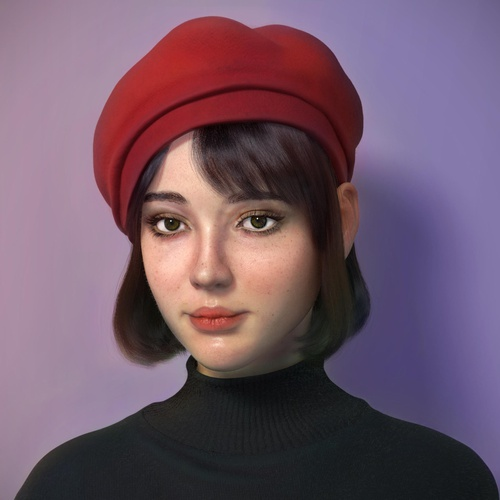 3d realistic portrait model