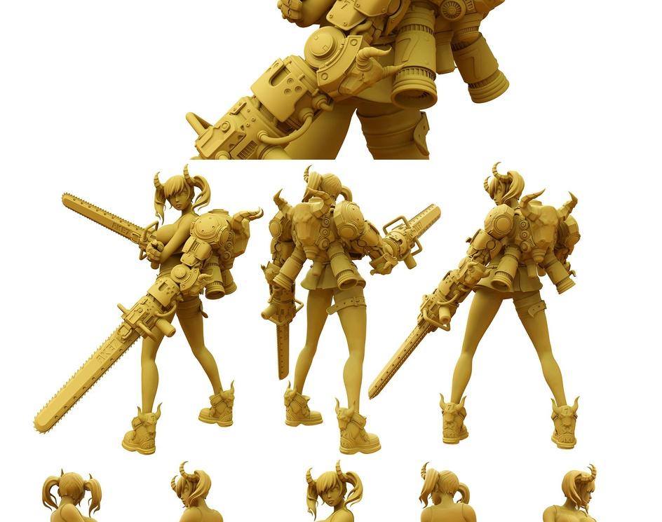 Anime Style Character Sculptby Keyz78