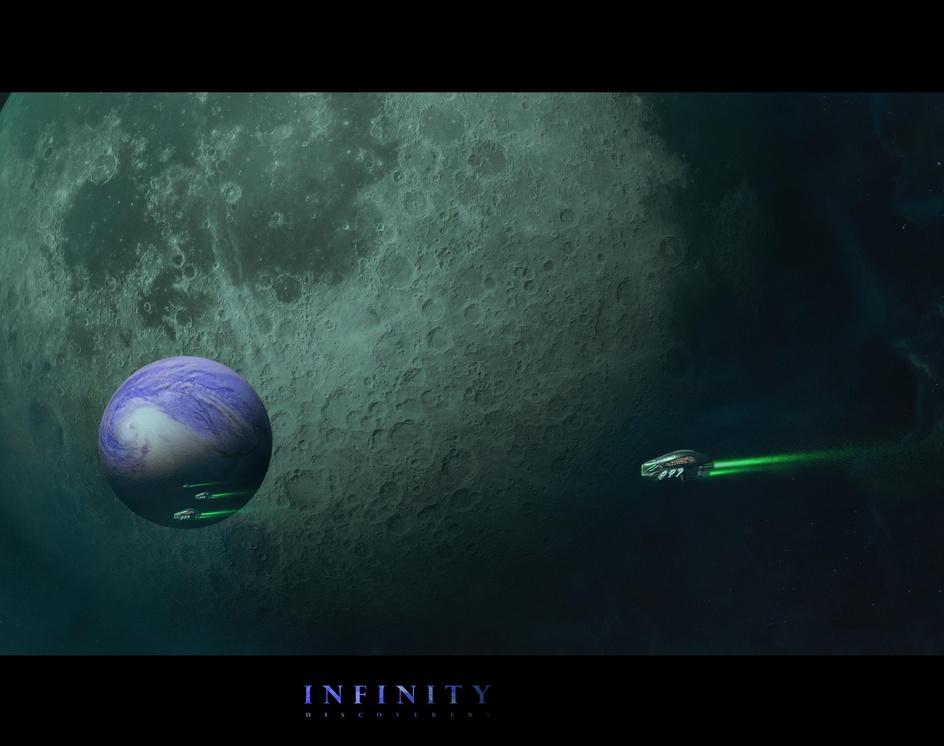 Dark space. Infinity. Discoverersby Erich Zibert