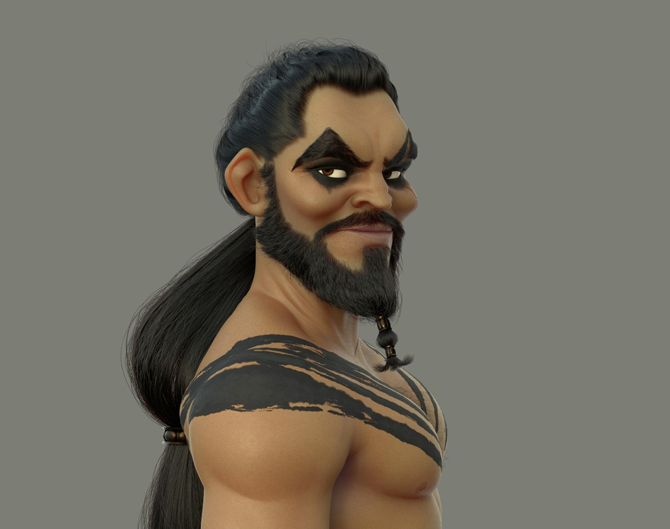 Khal Drogo Fanartby Javier Benver