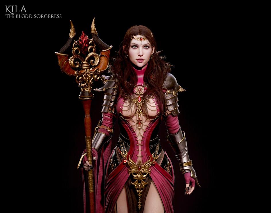 Kila, the Blood Sorceressby daviddelaorden