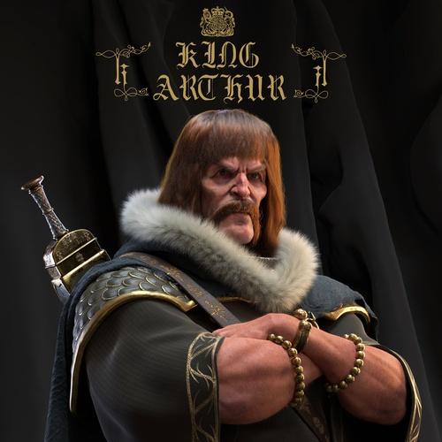 king arthur knight model man Arthurian legend 3d design