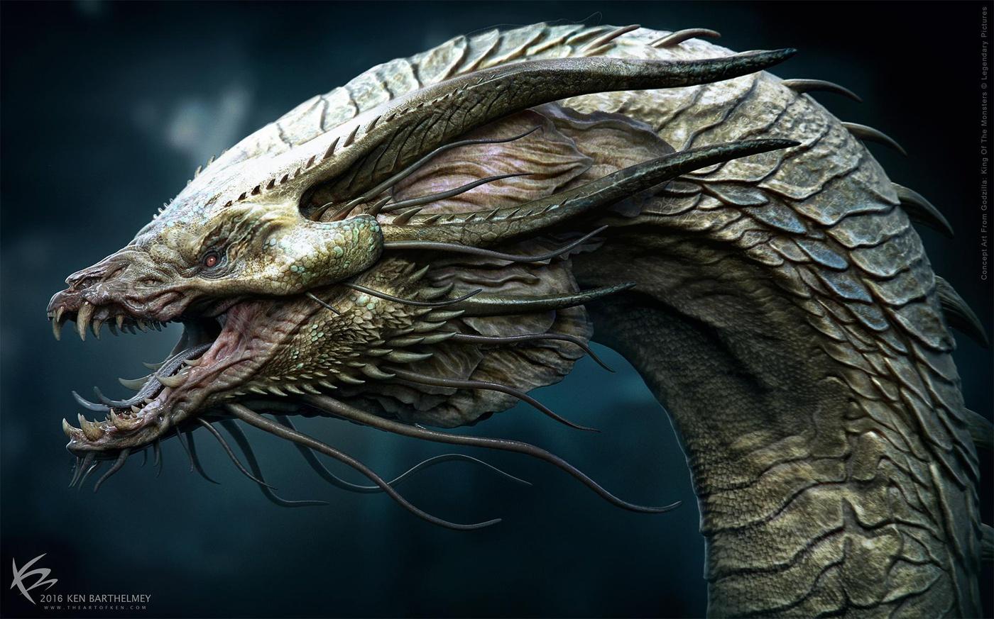 creature design rendering godzilla kaijuu king of monster