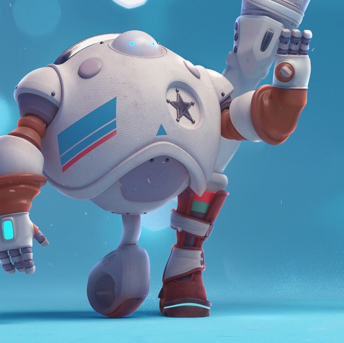 robotic sheriff futuristic 3d model
