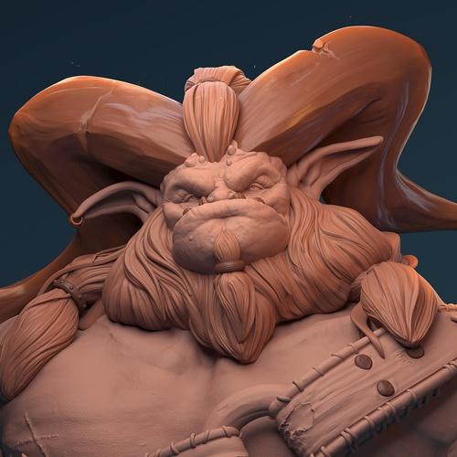 troll character colour base 3d model