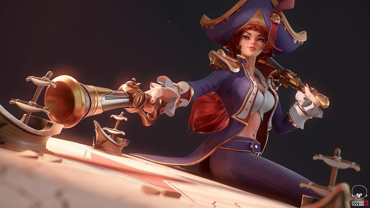 league of legends female character 3d model