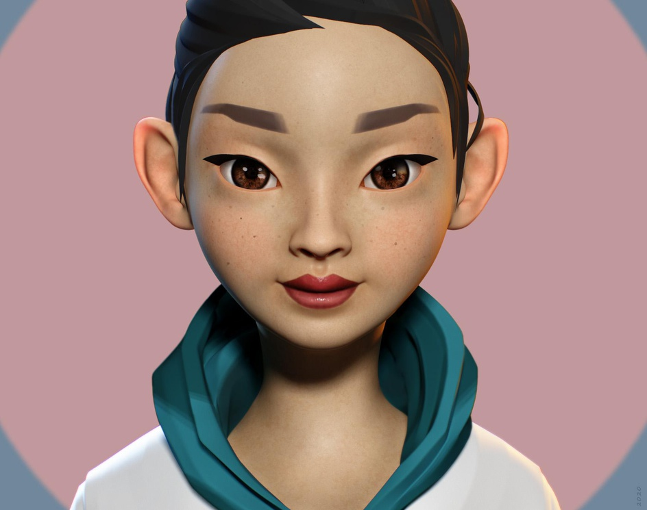 Korean Portraitby Gerard Muntes
