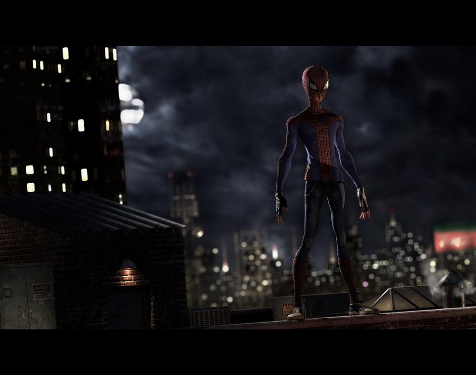Spider-Man Visits Gothamby Leandro Pavanelli
