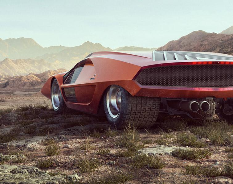 Lancia Stratos Zero - making ofby David Schaefer
