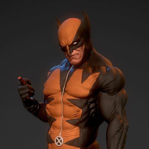 wolverine 3d character model