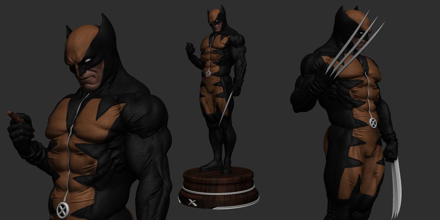 wolverine character 3d art design