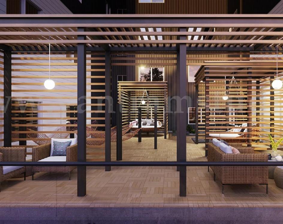 Indoor Seating area with Garden 3d Interior Design Rendering Services by Yantram 3d Architectural Design Studio - France – Parisby Ruturaj Desai