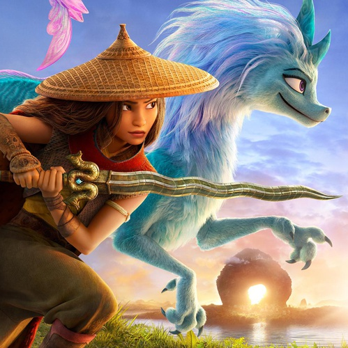 poster design raya and the last dragon 3d character model