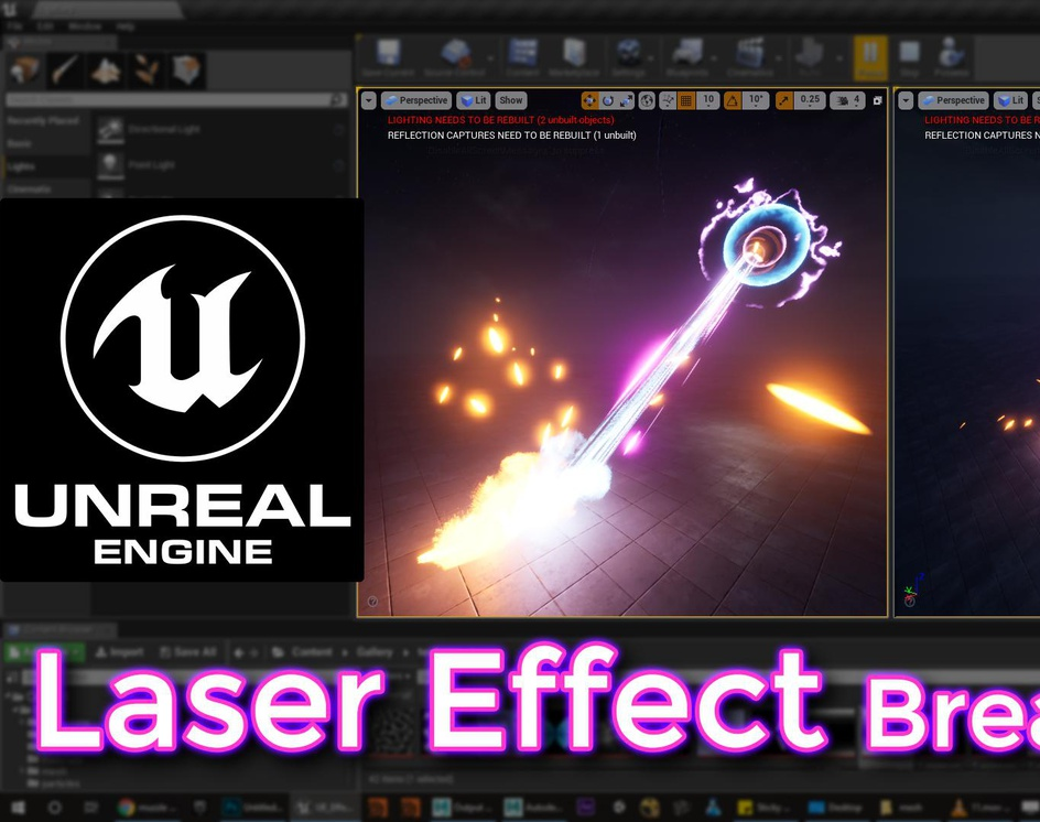 Unreal Engine Laser Effect Breakdown by Ashif Ali · 3dtotal