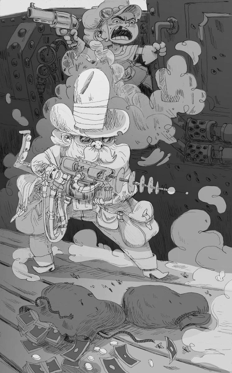 2d rough draft cowboy steampunk