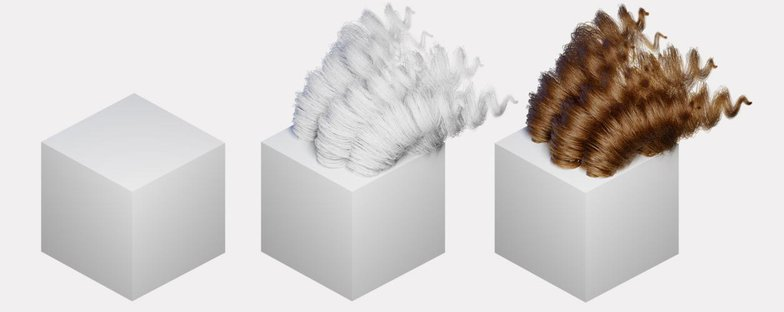 hair material particles