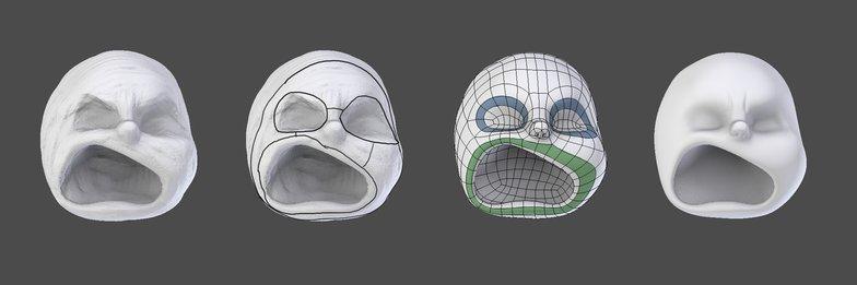 base sculpt 3d face