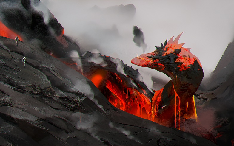 2d illustration digital digital art lava concept design