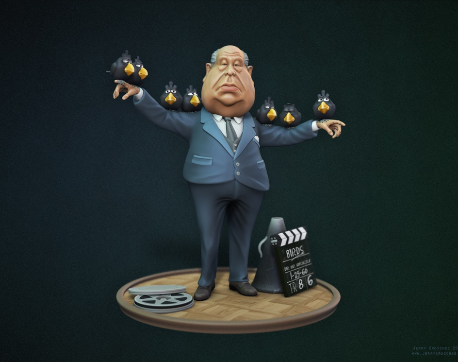 Alfred Hitchcock caricatureby lazy_noob