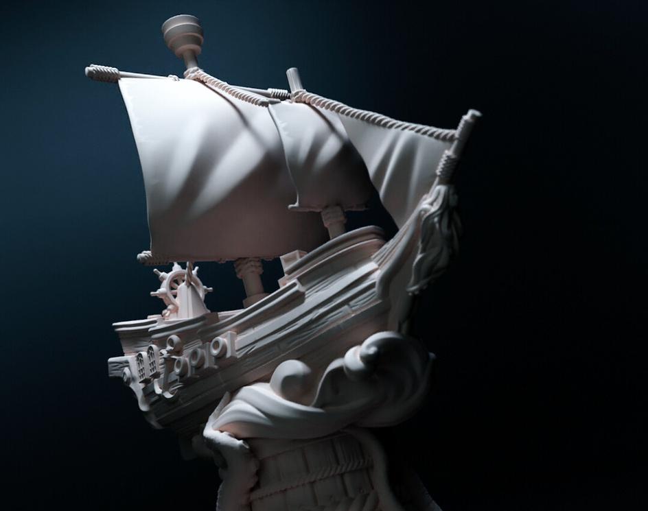 Instabil - Sailing ship miniature for board gameby Leo Penaranda