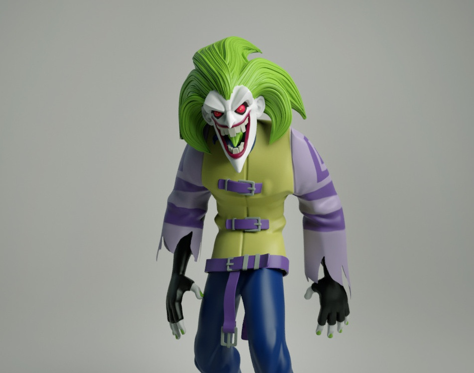 Joker form The Batman (animated series 2004)by Leo Penaranda