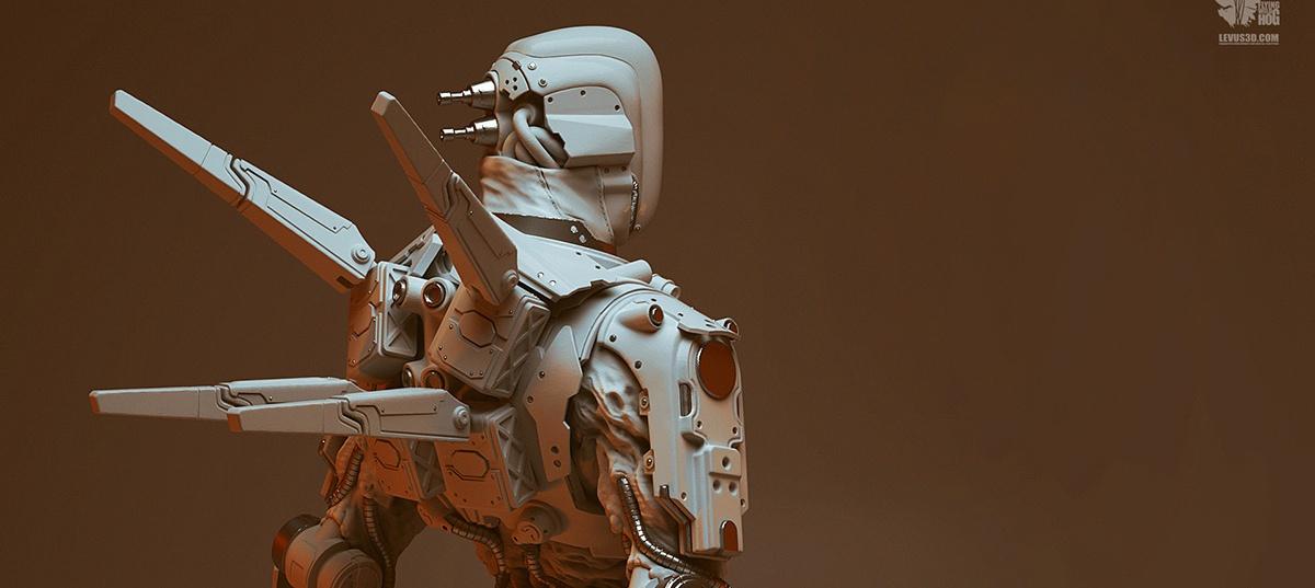 Zilla Commando, Shadow Warrior 2, robot, mechanical