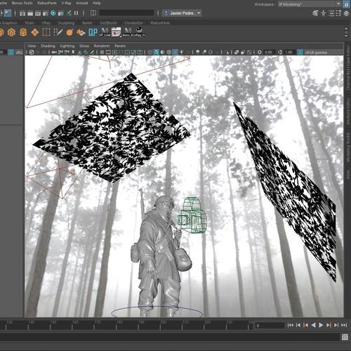 V-Ray render optimization texturing nature
