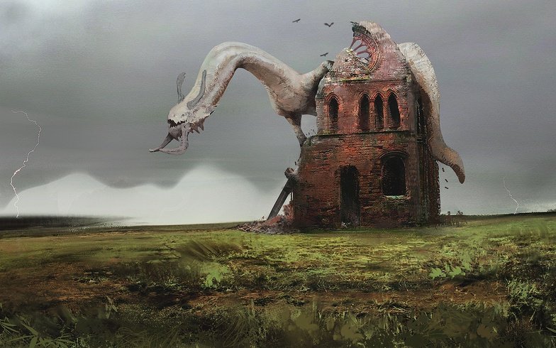 2d illustration digital digital art dragon concept design