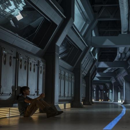 space shuttle corridor sci-fi show