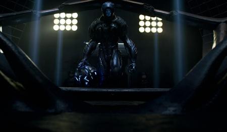 dark sci-fi alien robot technology