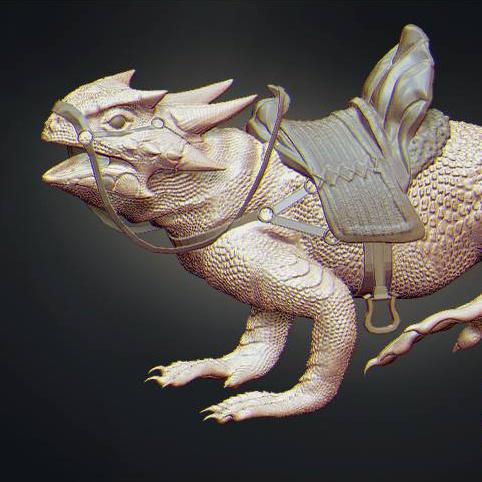 reptilian creature design render 3d model realistic base colour