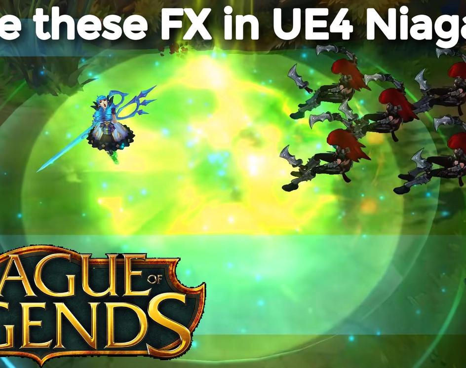 League Of Legends | UE4 Niagara Tutorials | Download Project Filesby Ashif Ali