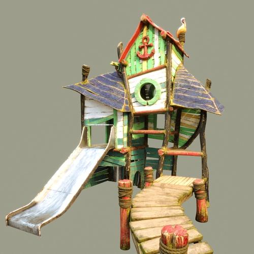 playhouse 3d render setting environment playhouse basic model