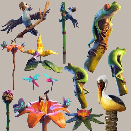 animal creatures model 3d renders