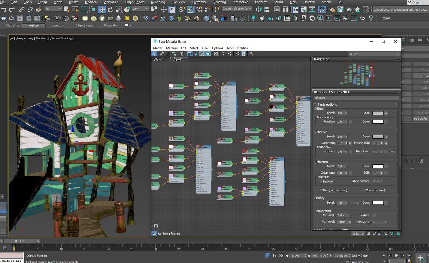 3d render setting environment playhouse