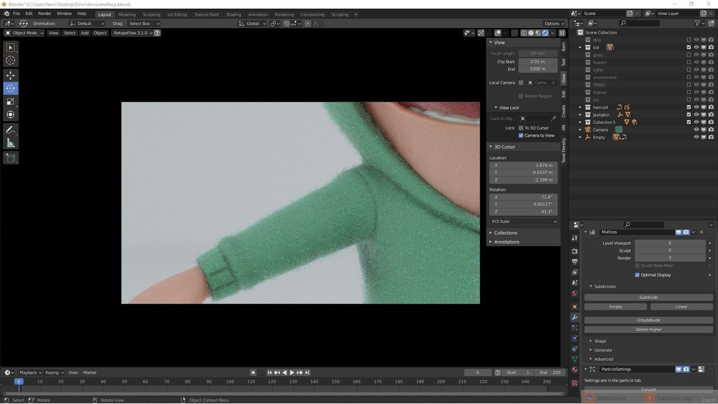 lookdev material texturing lighting wool jacket 3d model
