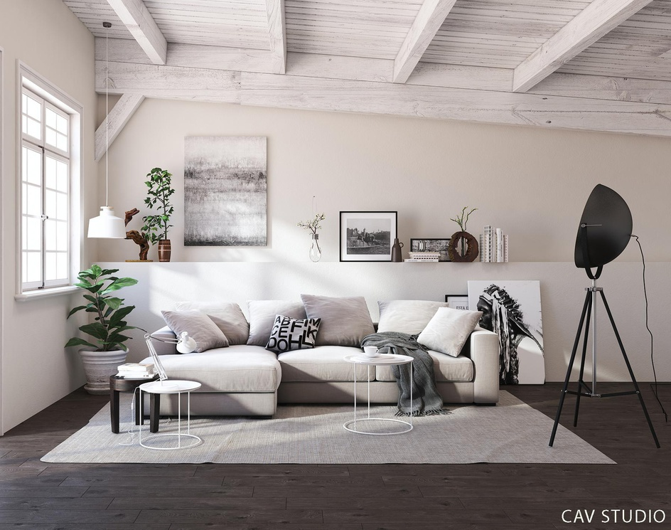 Lovely livingroom scandinavianby CAVstudio