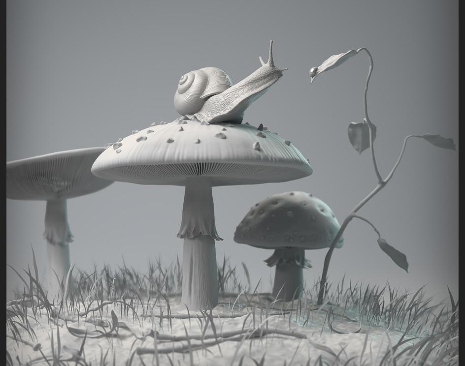 Snail and Mushroomby centauro44