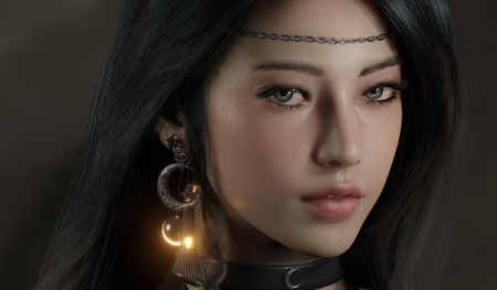 female character design game inspired 3d real-time character artwork model sculpt
