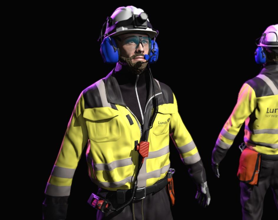 VR Simulation character for Lundin oil rigby Viktor Ardeljan